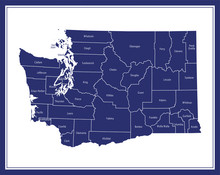 Counties Map Of Washington State