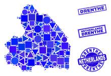 Vector Mosaic Drenthe Province...