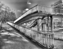 Elevated Walkway In City