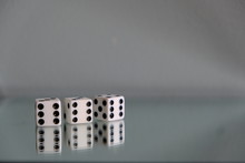 Three Dice Showing Triple Sixe...
