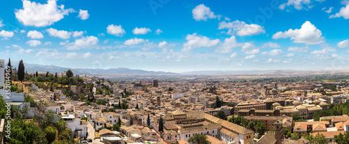 Panoramic view of Granada Canvas Print