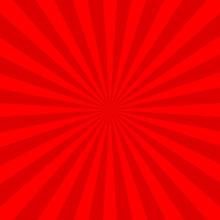 Red Radial Background, Poster Design Template, Vector Illustration