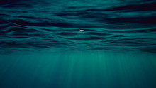 Blue Water Surface Underwater