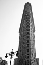 Exterior Of Flatiron Building Against Clear Sky