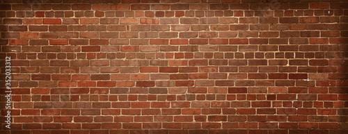 Old natural brick wall background.