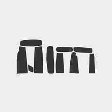 Stonehenge Icon Vector Illustration For Website And Graphic Design