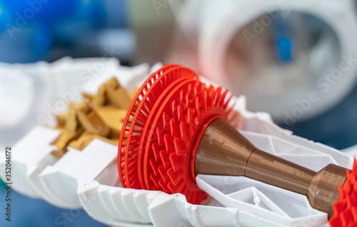 Photo Printing 3D printer jet engine printed model plastic