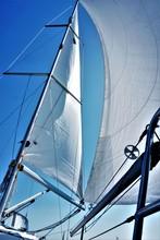 Sail Tack With A Sailing Yacht...