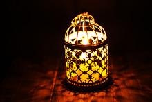 Close Up Shot Of Candle Lanter...