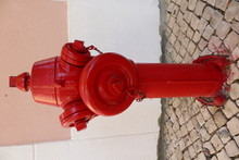 Close-up Of Red Fire Hydrant O...