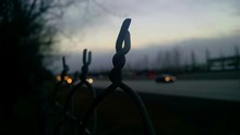 Twisted Wire At Dusk