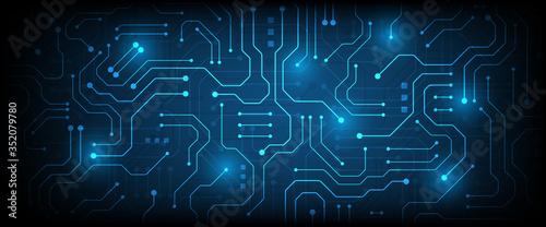 hi-tech digital data connection system Wallpaper Mural