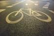 Leinwandbild Motiv High Angle View Of Bicycle Lane