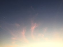 Low Angle View Of Sky At Dusk