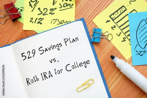 Business concept meaning 529 Savings Plan vs Fototapet