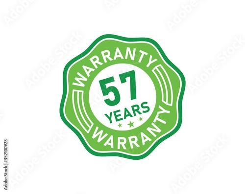 57 year warranty icon isolated on white background Canvas-taulu