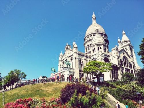 Платно Low Angle View Of Basilique Du Sacre Coeur