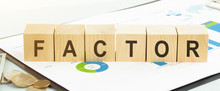 FACTOR Word Concept On A Light Background
