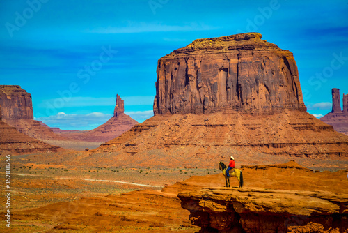 Fotomural Landscape of geomorphological formations of Monument Valley USA