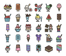 Ice Cream Menu Color Outline V...
