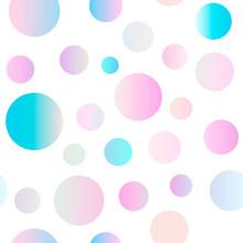 Seamless Gradient Dots Pattern...