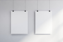 Two Vertical Mock Up Posters O...