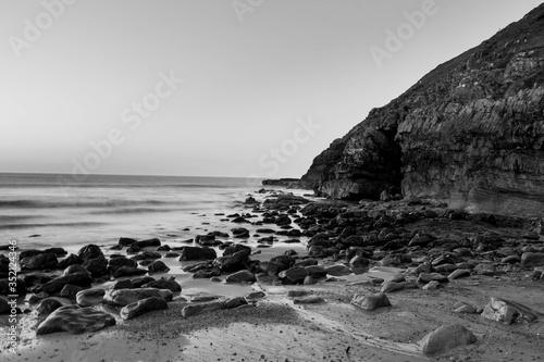 Fotografiet Scenic View Of Irish Sea Against Clear Sky