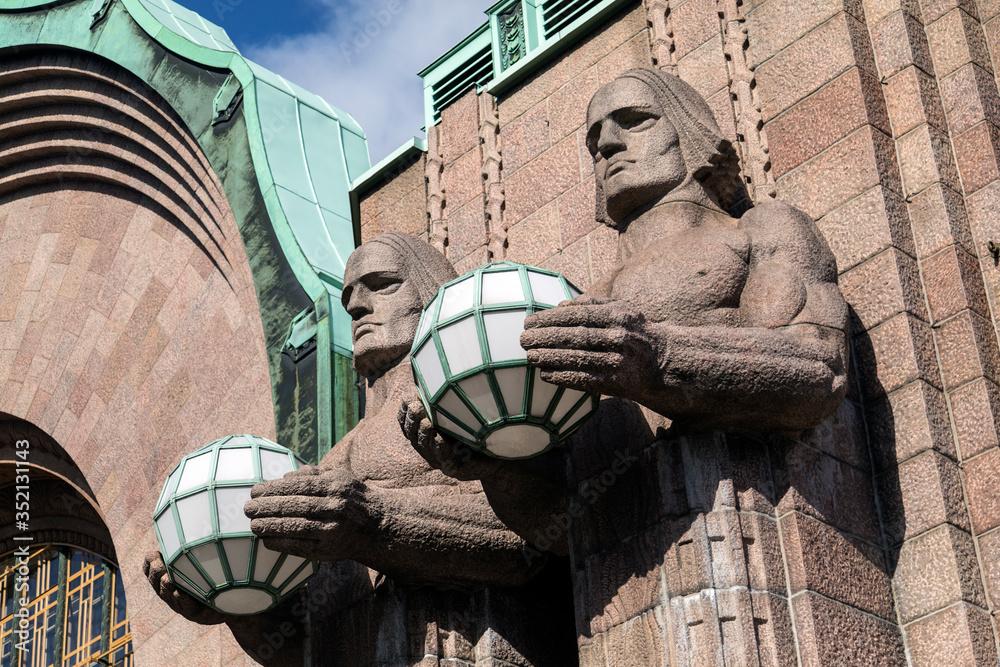 Art Deco Statues - Helsinki - Finland