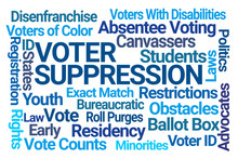 Voter Suppression Word Cloud O...