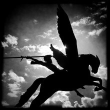 Statue Of Warrior And His Armo...