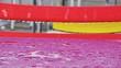 Leinwanddruck Bild - Close-up Of Wet Chair
