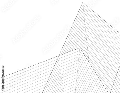Fotografía pyramid  abstract architecture 3d illustration sketch