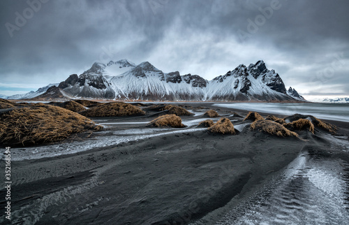 Obraz Famous Stokksness beach on Iceland - fototapety do salonu