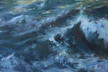 Sea Wave Water Surface With Fo...