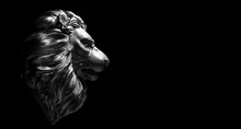 Lion Statue, A Stone Sculpture. Concept Of A Guard, Power And Proud Animal.