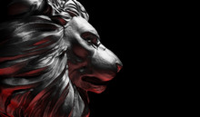 Lion Statue, A Stone Sculpture...