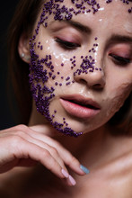 Creatiive Beauty Concept. Clos...