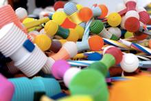 Bright Multicoloured Plastic T...
