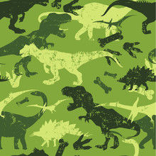 Seamless  Camouflage Dino Patt...