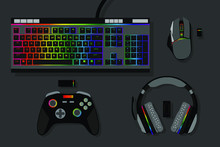 Gamer Workspace Concept, Top V...