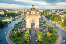 Drone Photo Of Patuxai, War Ar...