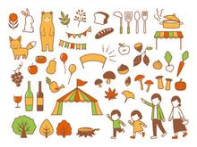 Illustration Of Autumn Gourmet...