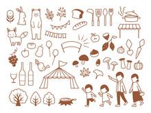 Illustration Of Autumn Gourmet Festival