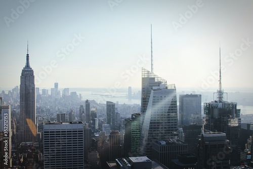 Fotografiet View Of Cityscape With Empire State Building