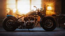 Custom Bobber Motorbike Standi...