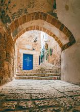 Entrance Of St. Archangel Michael Monastery  In Old Jaffa, Tel Aviv.