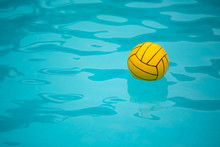 Water Polo Ball In A Swimming ...