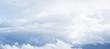 Leinwandbild Motiv Blue sky with white clouds at daytime, natural background