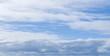 Leinwandbild Motiv Blue sky with clouds at daytime, natural background