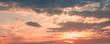 Leinwandbild Motiv Colorful cloudy sky at sunset, natural background